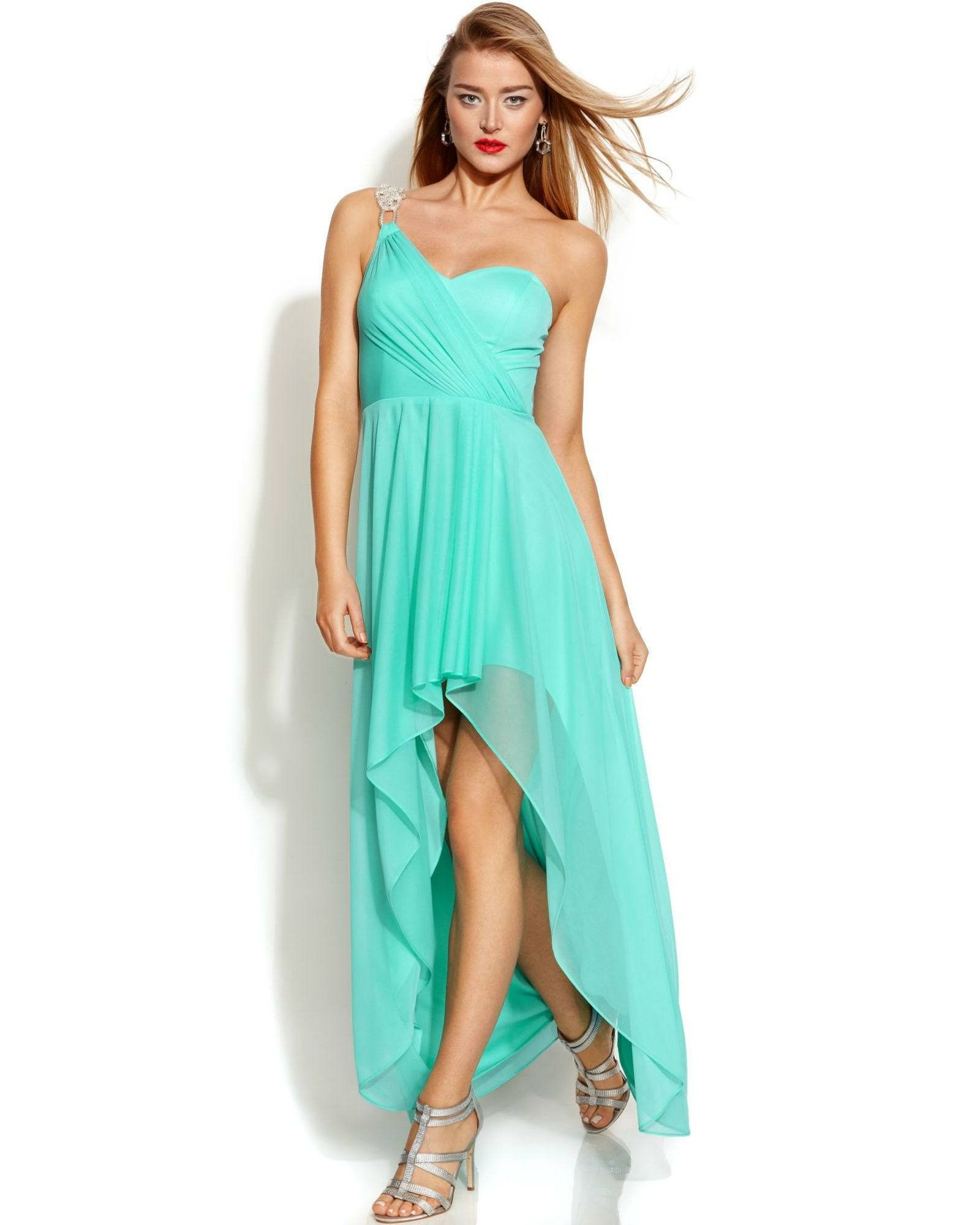 Xscape One-Shoulder High-Low Gown | Products, One shoulder and Gowns