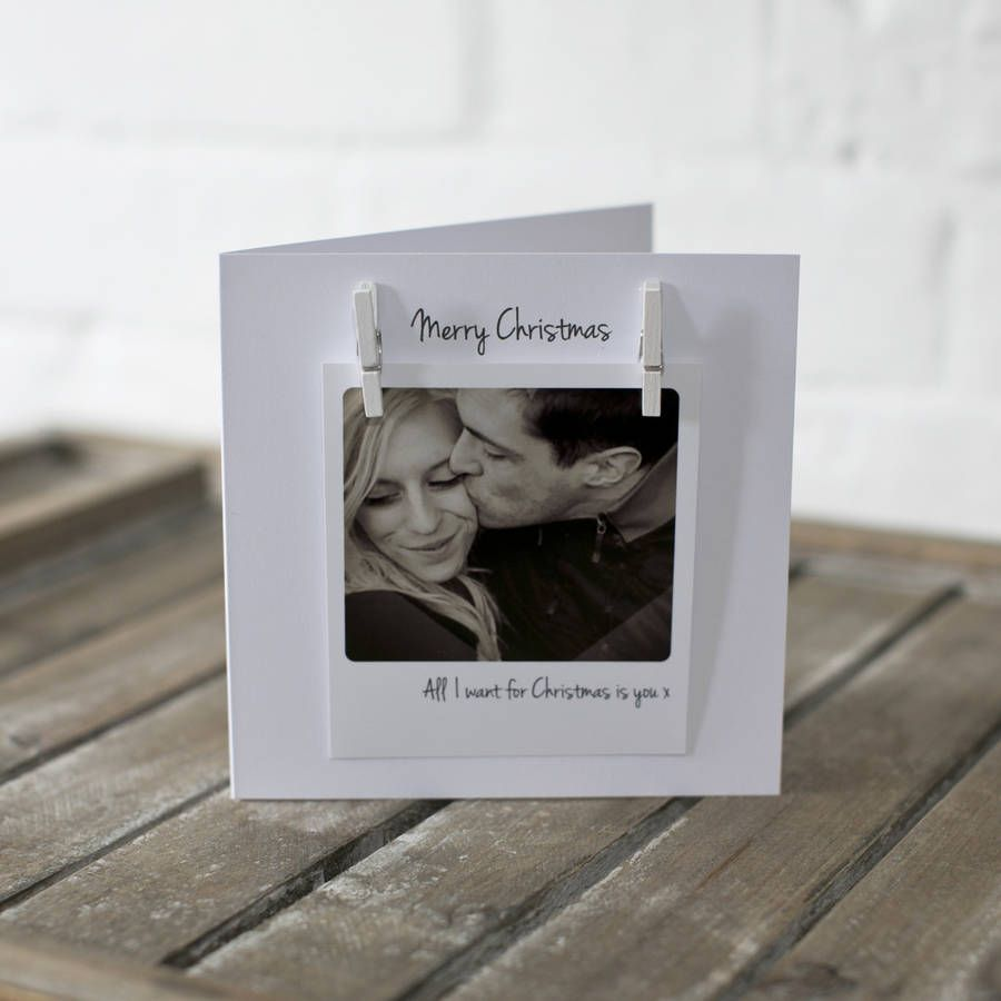 Personalised Peg Photo Love Message Christmas Card By Jg Artwork |  Notonthehighstreet.com