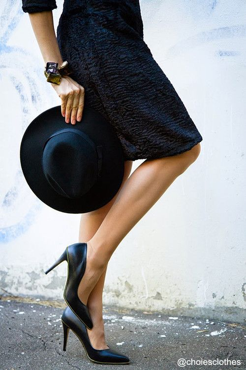 choiesclothes: Black Felt Fedora