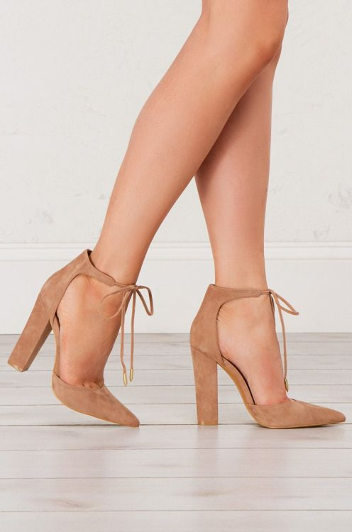 90661be749f5dc Thick Heel Lace Up Sandals in Black and Taupe