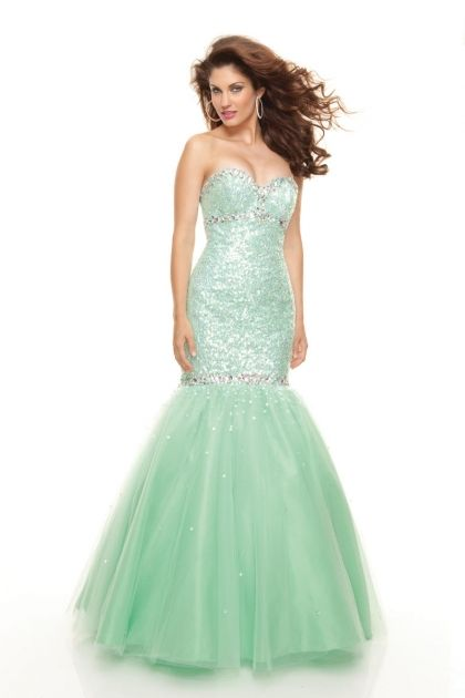 Paparazzi by Mori Lee 93004 Beaded Tulle Mermaid Prom Dress ...