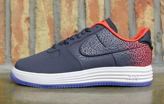 Nike Lunar Force 1 Low LUX VT: Dark Grey & Red Sneakers: Nike Air