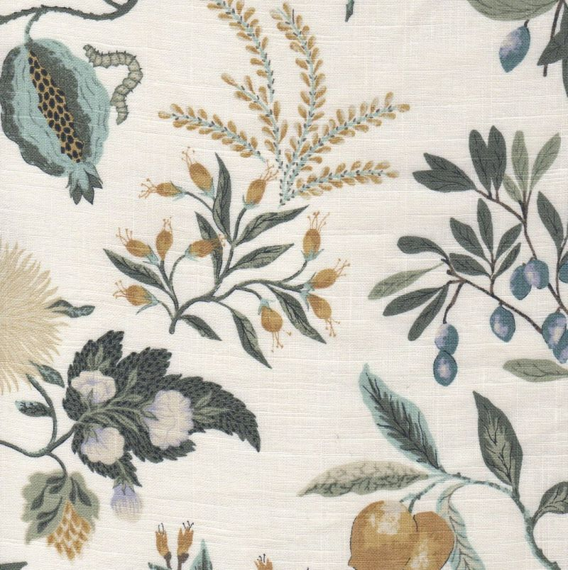 Decorative Fabrics Direct Offers Fabricut Fleur Botanical La Mer At True Mill Pricing Inventory And Samples Are Available For Immediate Shipment