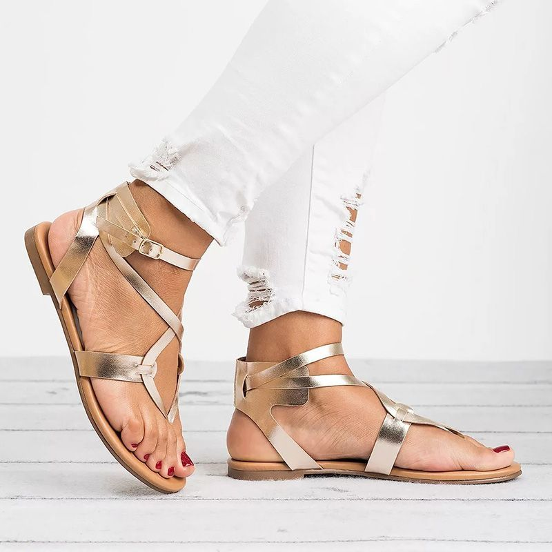 691ad498c5e 2018 Summer Casual Flat Heels Ankle Strap Women Sandals – styleNB ...