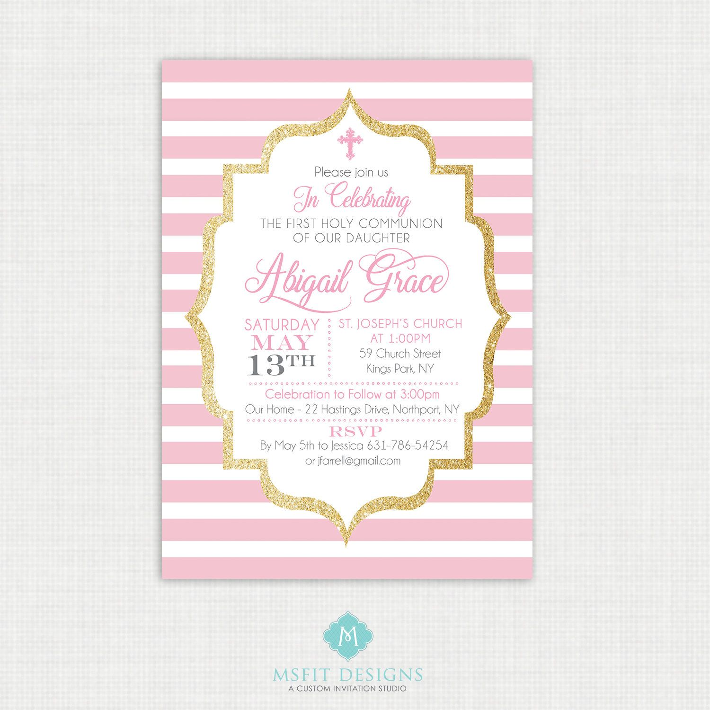Printable Baptism Invitation- Girl Baptism Invitation - Baby ...