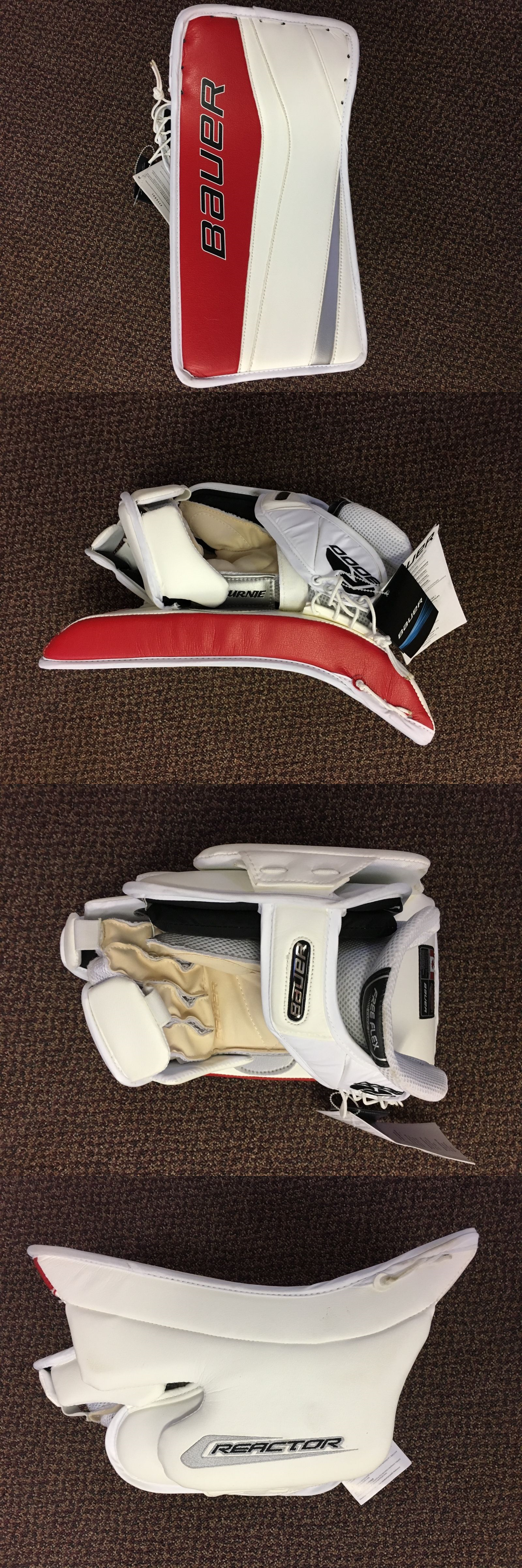 Gloves and Blockers 79763: Bauer Reactor 9000 Custom Senior Goalie Blocker - Shu Pro Stock Return BUY IT NOW ONLY: $300.0