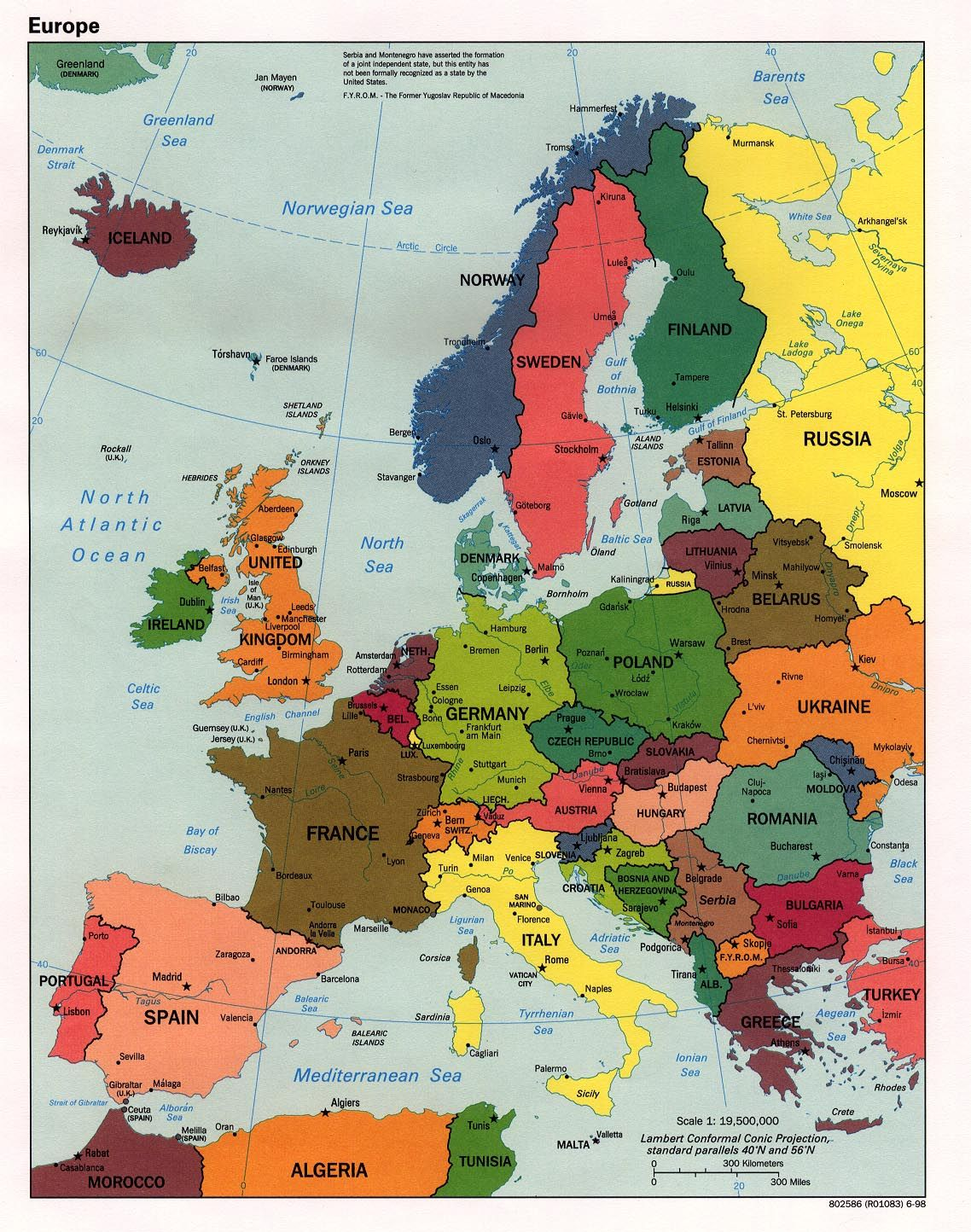 Maps Of Western Europe Americans Are Possibly The Most