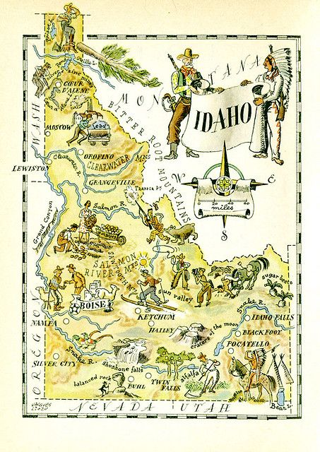 Idaho Map In 2019 Why We Love Living In Idaho Pinterest