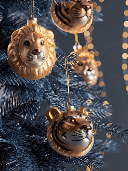 Christmas Tree Decorations, Traditional Gold & Sil