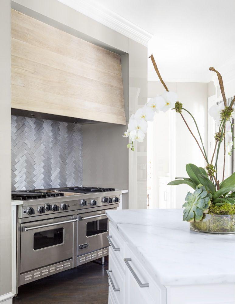 Coats Homes Highland Park Texas Metal Tile Backsplash Kitchen Inspiration Design Contemporary Kitchen