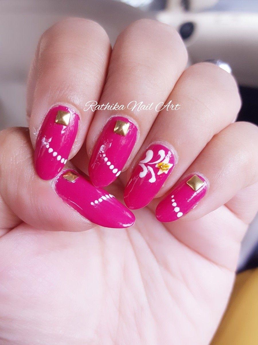 Fuschia pink Nail Art | Rathika Nail Art | Pinterest | Pink nails