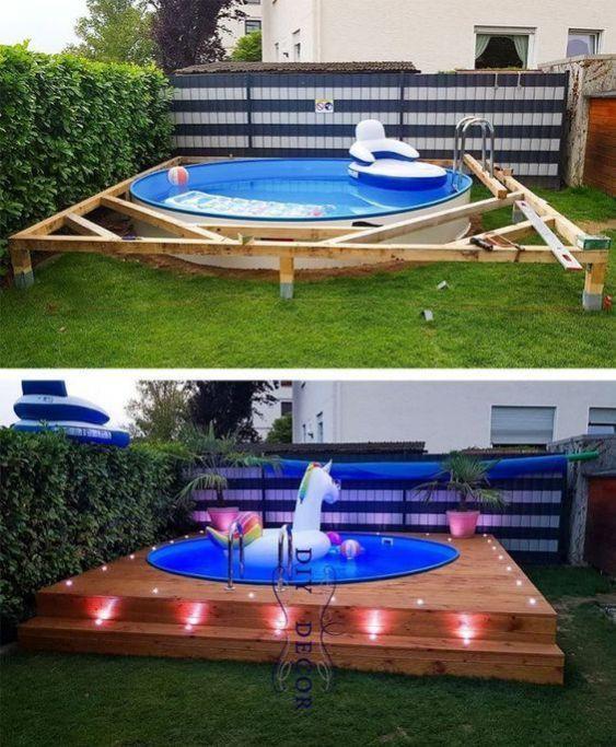 Diy Swimming Pool Ideas 3 Backyard Decor Backyard Backyard Pool