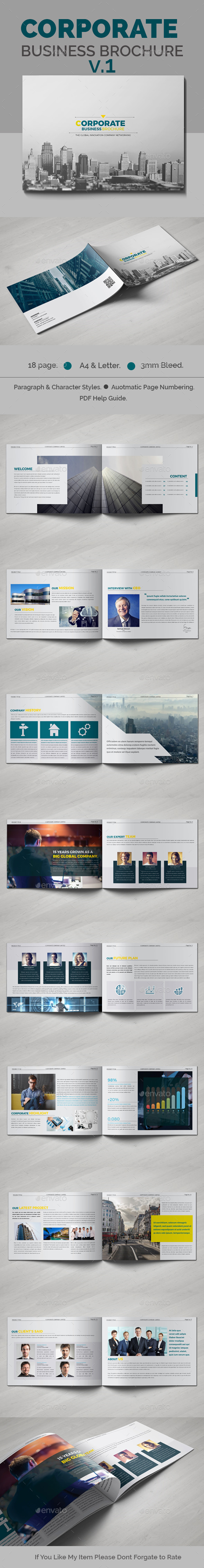 Corporate Business Brochure Template InDesign INDD. Download here: http://graphicriver.net/item/corporate-business-brochure-v1/16055302?ref=ksioks