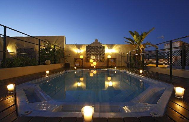 Jacuzzi Exterior Sevilla.Jacuzzi Exterior En La Terraza De Nuestro Hotel Hotel