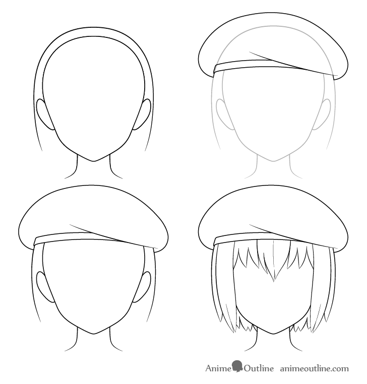 How To Draw Anime Hats Head Ware Animeoutline Anime Drawings Anime Drawings Tutorials Drawing Anime Bodies