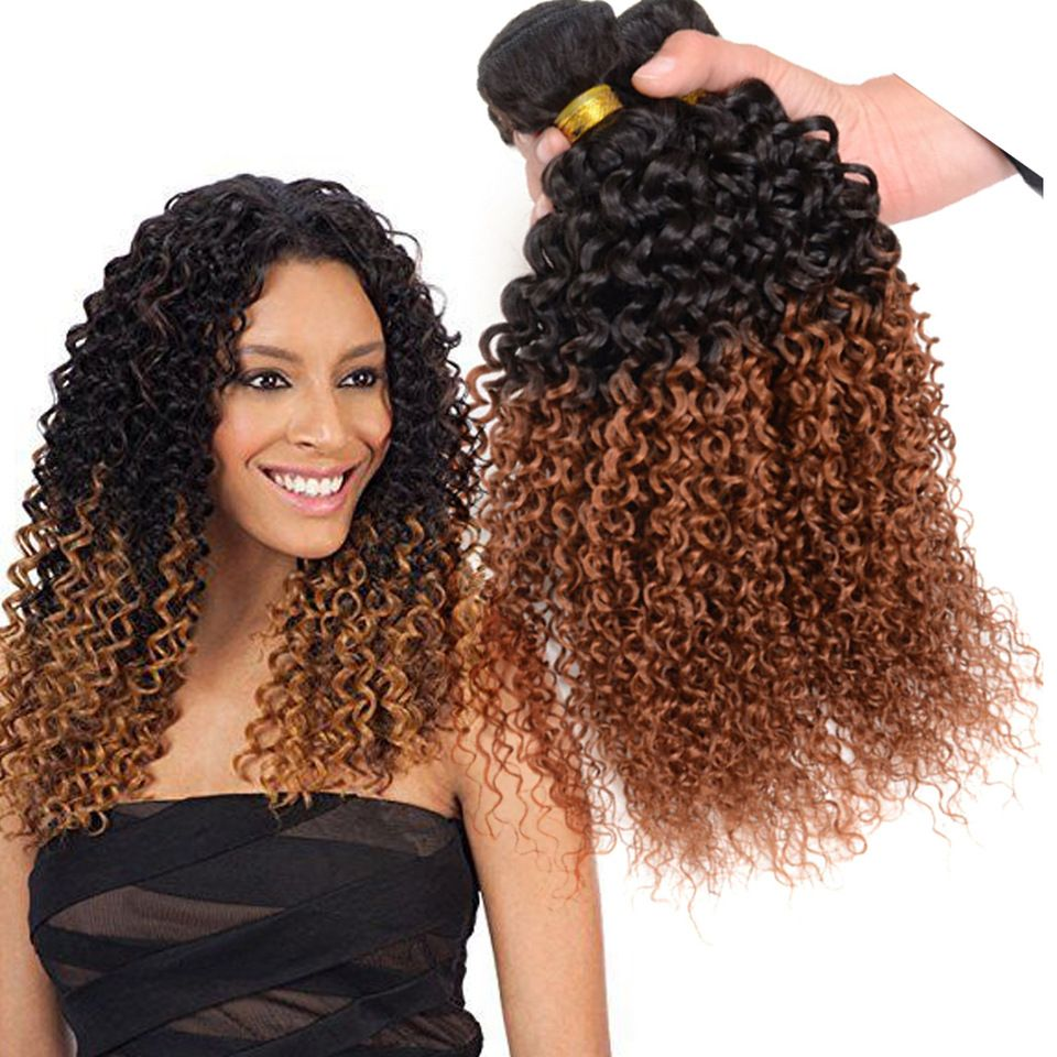 Crochet Braids With Human Hair Weave Bundles Kinky Curly Hair In