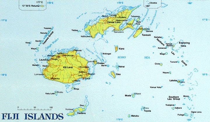 Ely Sakhai - Fiji (Engl Fiji, Hindi फ़िजी, Fiji Matanitu ko - new world map fiji country