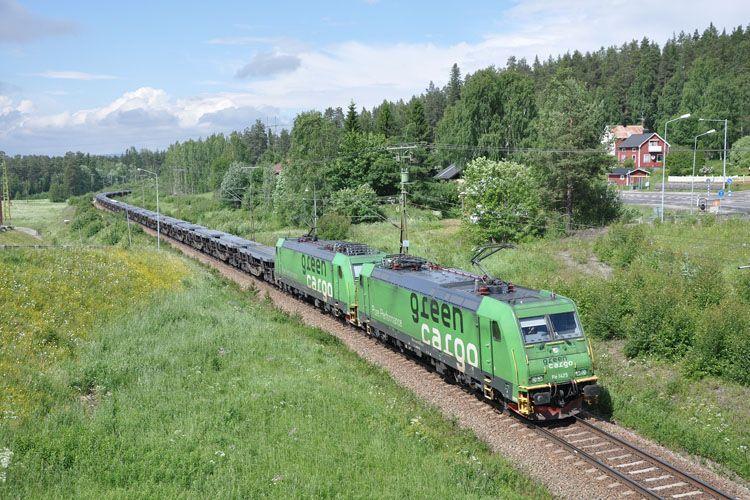 Green Cargo Train Locomotive Railway