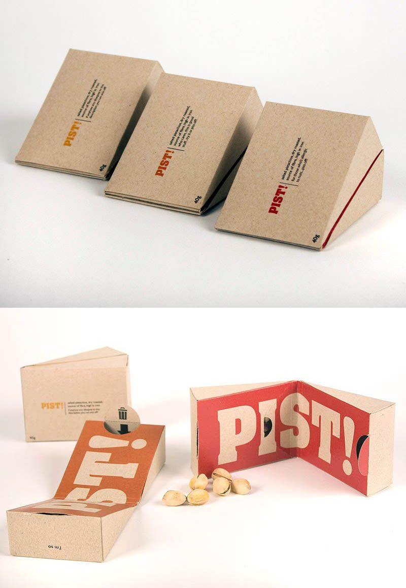 Packaging de produits - Un sachet de pistaches (Design par Marie Bergeron)