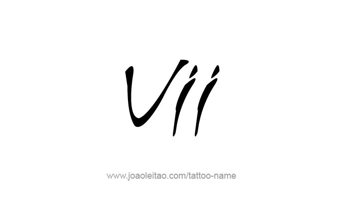 Vii Roman Numeral Tattoo Designs Tattoos With Names Name Tattoos Tattoos Tattoo Designs