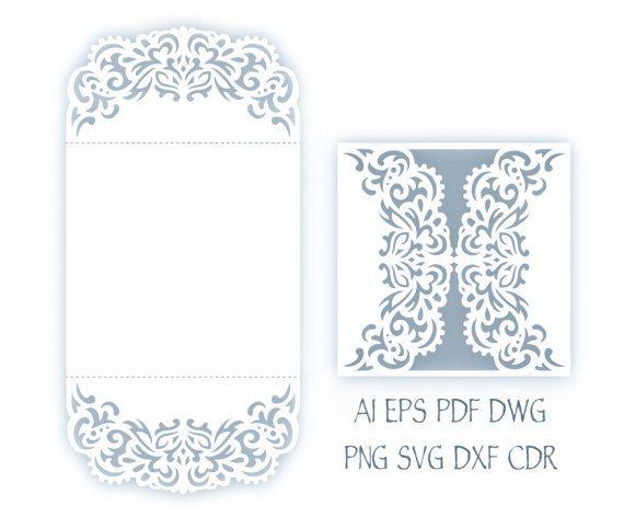 Svg Wedding Invitation X Gate Fold Card Template