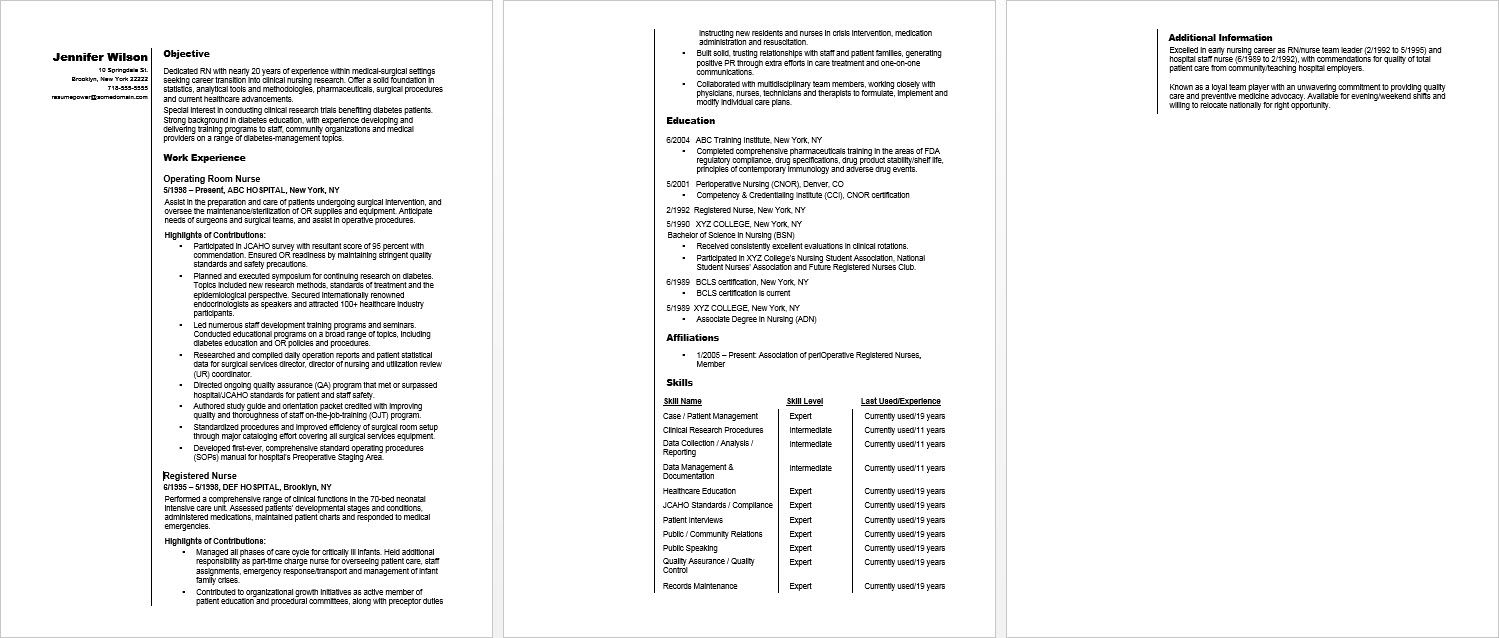 Sample Resume for an RN Career Changer (With images