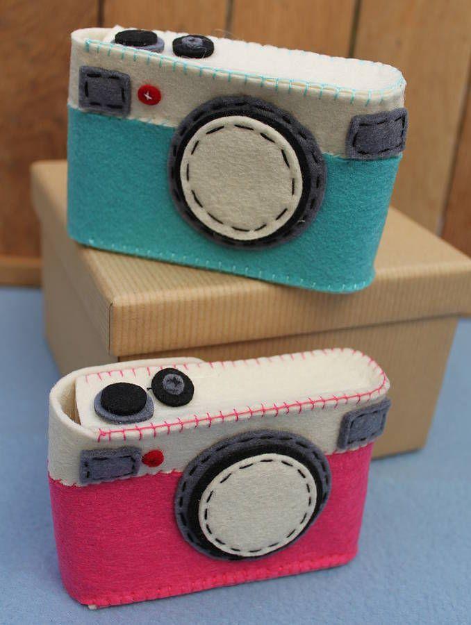 Felt Camera Case | FELTRO | Pinterest | Filz, Deko nähen und ...