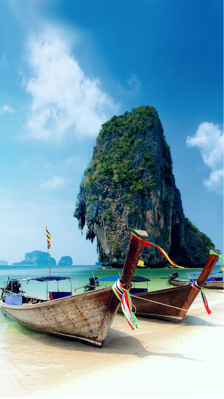 Krabi Island Thailand Beach Iphone 6 Wallpaper In 2019