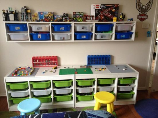 40 awesome lego storage ideas the organised housewife. Black Bedroom Furniture Sets. Home Design Ideas