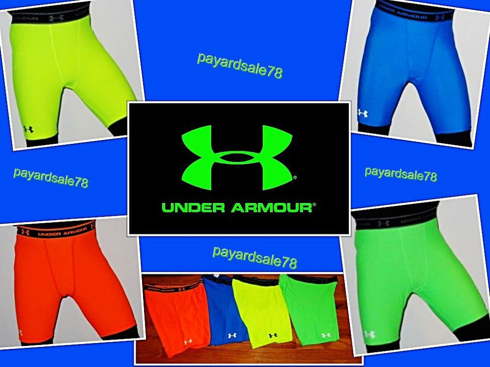 40524c27f MEN'S UNDER ARMOUR BRIGHT COLORS COMPRESSION SHORTS BASE LAYER 1201164 TIGHT  NWT #UnderArmour #Athletic