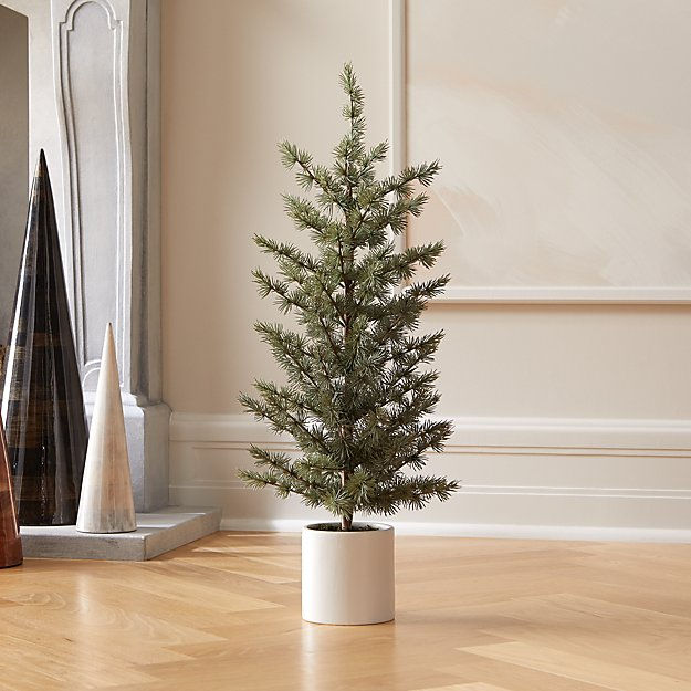 """Potted Pine Tree 30"""" + Reviews CB2 Holiday wreaths"""