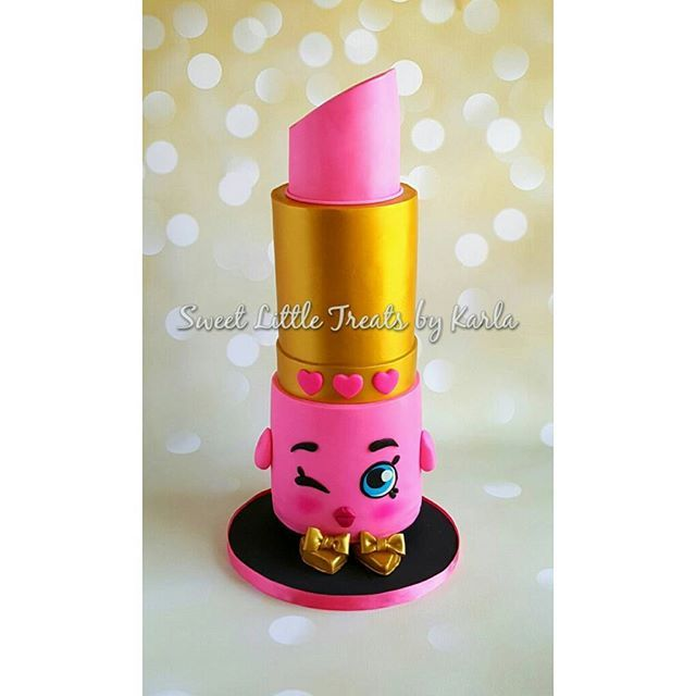Shopkins Lippy Lips All Tiers Are Cake! Buttercream, Ganache And Smbc.  Drove 12