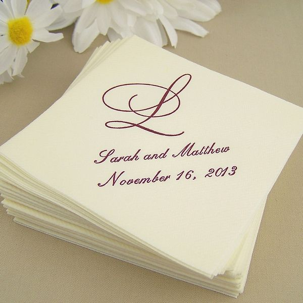Custom Printed 5 X Premium Linen Like Disposable Cocktail Napkins Look And Feel