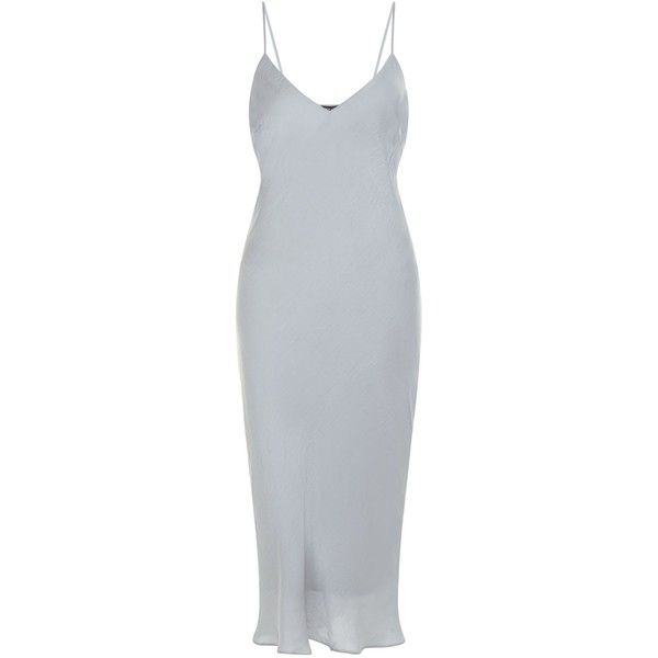New Look Petite Silver Satin Maxi Dress ($33) ❤ liked on Polyvore ...
