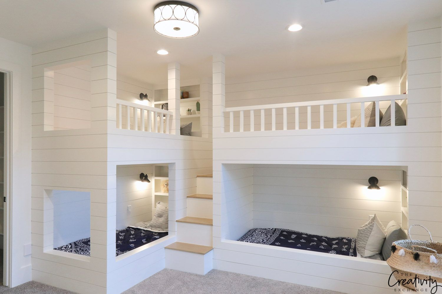 Modern Farmhouse Home Tour Millhaven Homes Bed For Girls Room Modern Bunk Beds Cool Bunk Beds