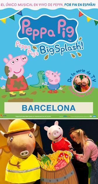 "Espectacle musical infantil ""Big Splash"", de Peppa Pig. Teatre Apolo (Barcelona). Del 17 al 20 de desembre"