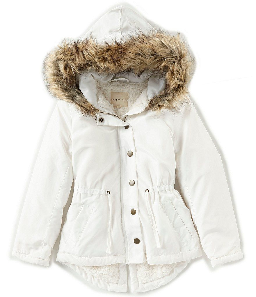 72e833e40 Copper Key Big Girls 7-16 Faux-Fur Coat
