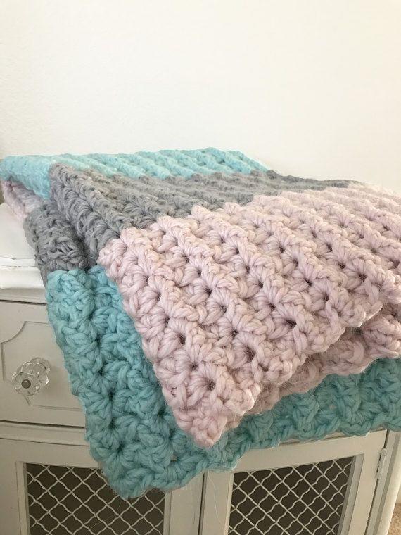 Crochet Baby Blanket Pattern Super Bulky Yarn Easy Pattern By Deborah O Leary Patterns Baby Blanket Crochet Crochet Baby Crochet Patterns