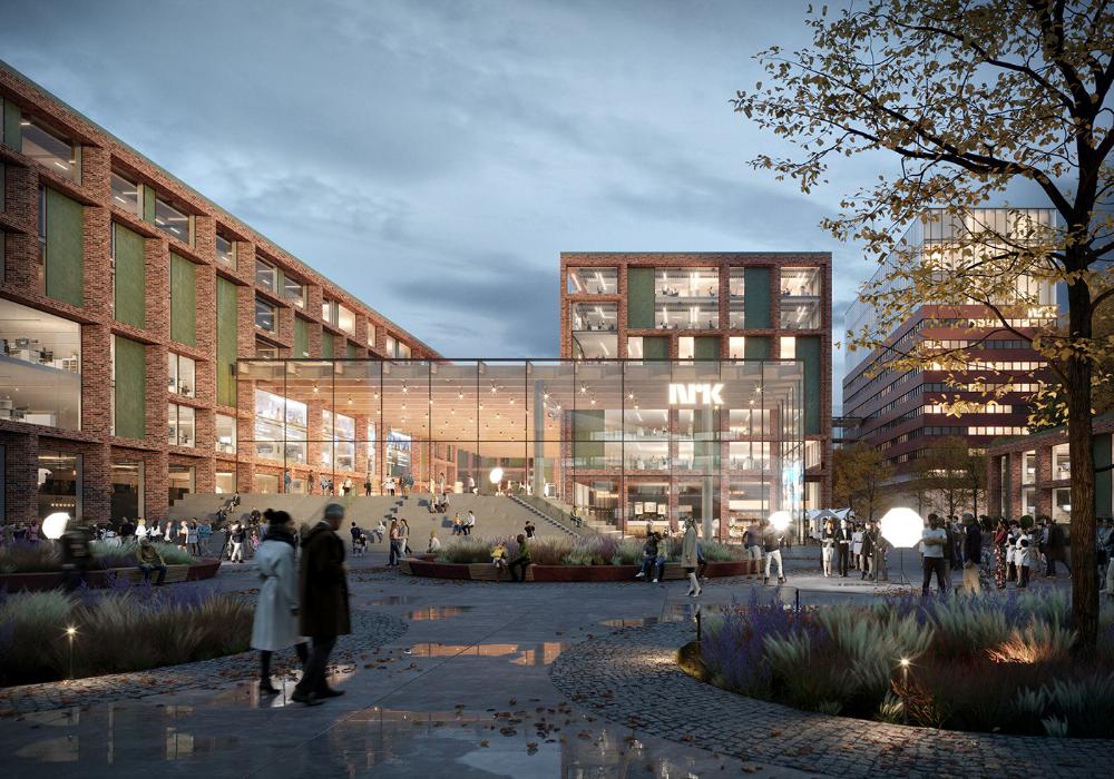 Nrk Headquarters On Behance In 2020 Architect Design Concept Design Street View