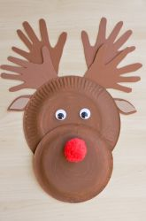make a paper plate reindeer assiette en carton renne et assiette. Black Bedroom Furniture Sets. Home Design Ideas