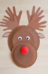 Kindergarten Christmas Activities: Make a Paper Plate Reindeer