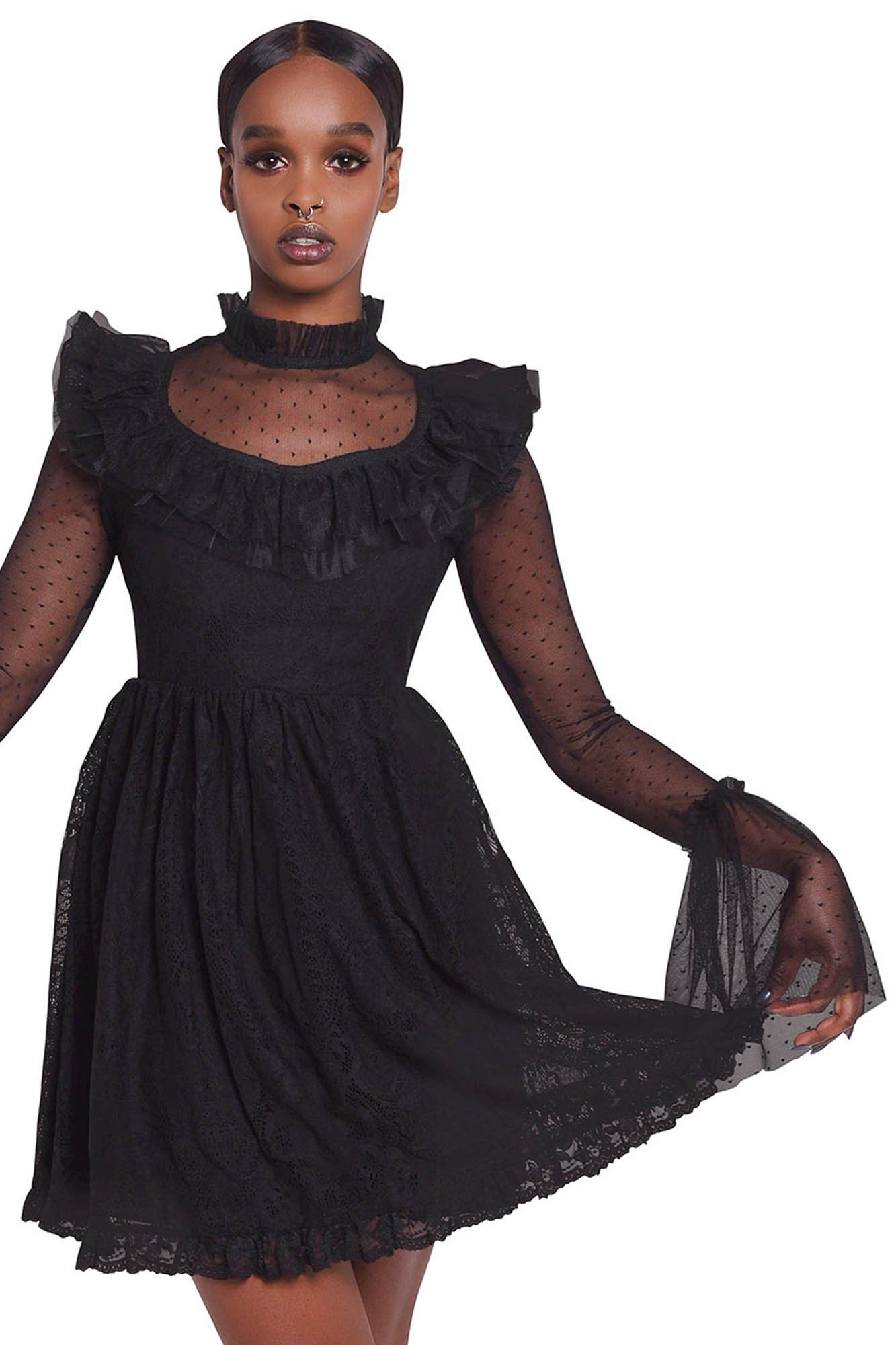 Killstar Bewitched Lace Dress In 2020 Lace Dress Dresses Nice