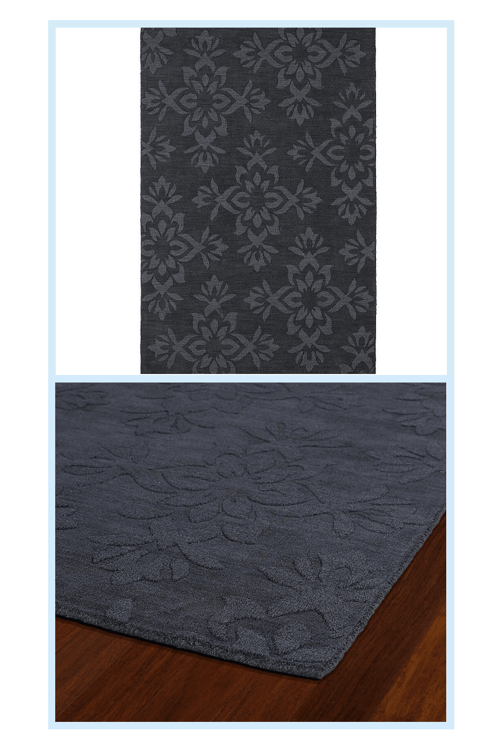 Photo of Kaleen Imprints Classic 5′ X 8′ Area Rug In Charcoal