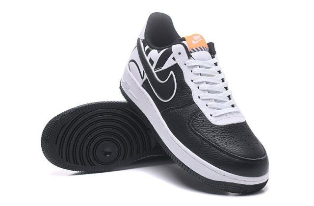 Most Popular Nike Air Force 07 LV8 Crocodile Leather Black Dark Grey 718152 018 Men's Casual Shoes Sneakers 718152 018