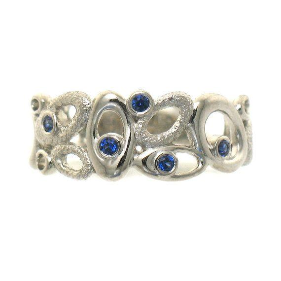 Beach Stone Sapphire Ring by BaxterMoerman on Etsy, $1500.00