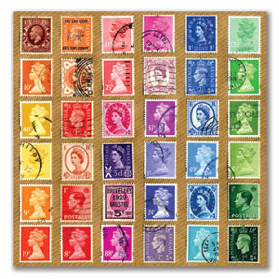 Retro Montage Postage Stamp Greeting Card Great Idea For Those Collectors Or Just Anyone Interested In British History We Love Collecting Stamps