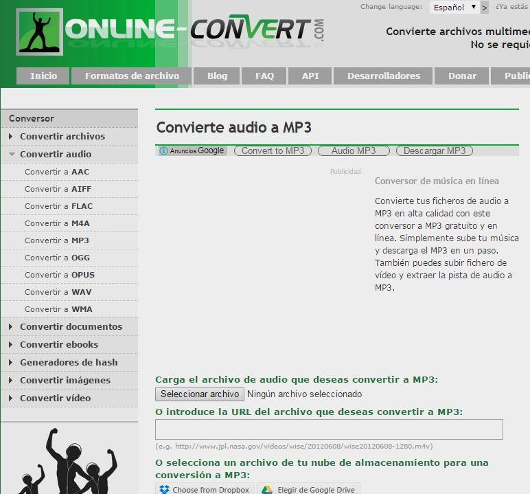 Convierte Audio Y Vídeo A Mp3 Musica En Linea Audio Videos