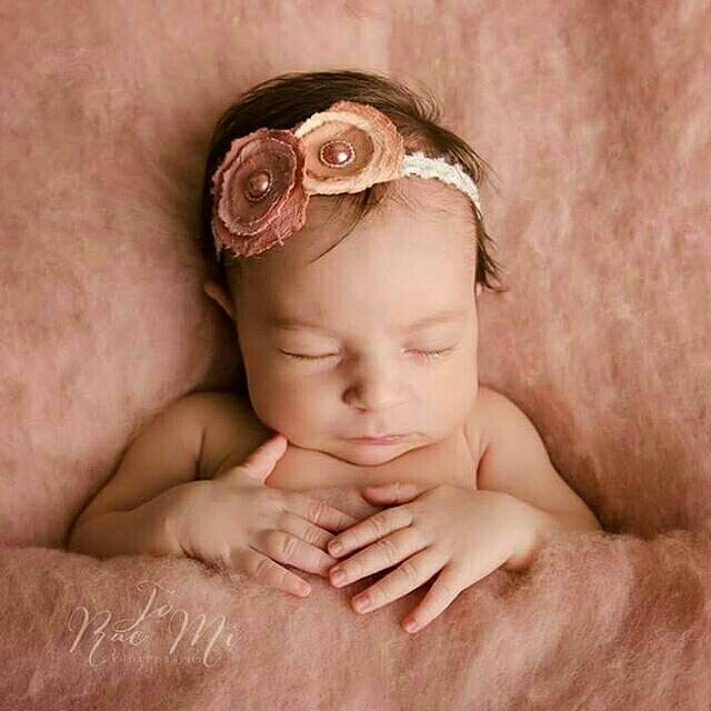 Vintage pink wool fluff by ababa baby props newborn photography props photo credit jo rae