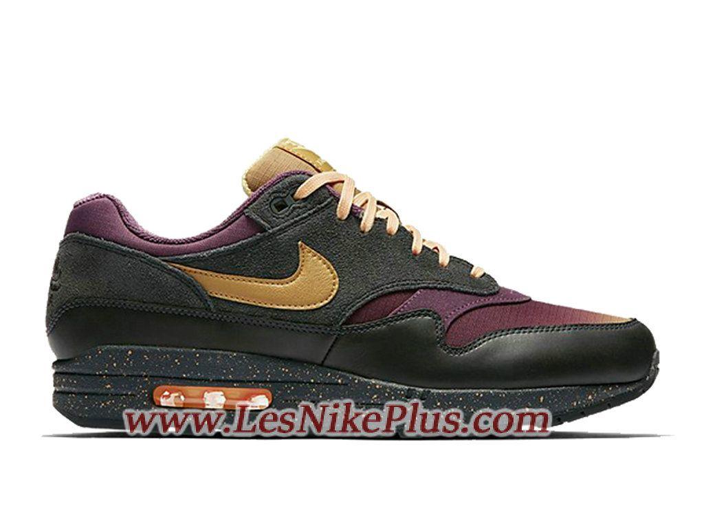 sports shoes 10b3c a9f7c Sneaker Nike Air Max 1 Premium Chaussures Nike Basket Pas Cher Pour Homme  Noir 875844-