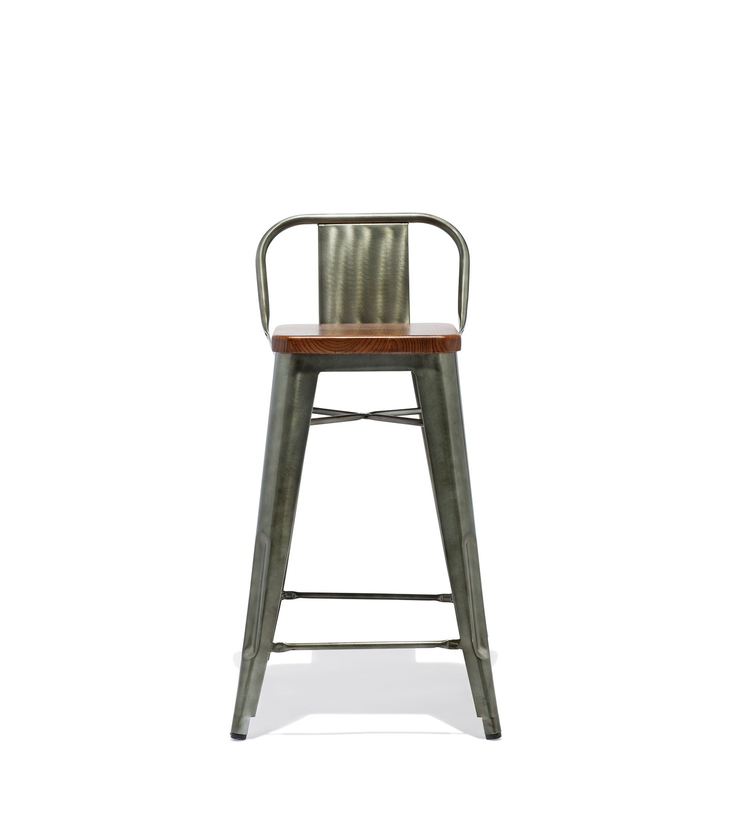 Low Back Counter Stool With A Wood Seat Bar Stools Stool